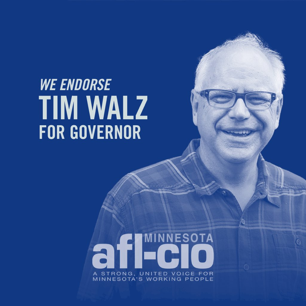 We endorse Tim Walz for Governor