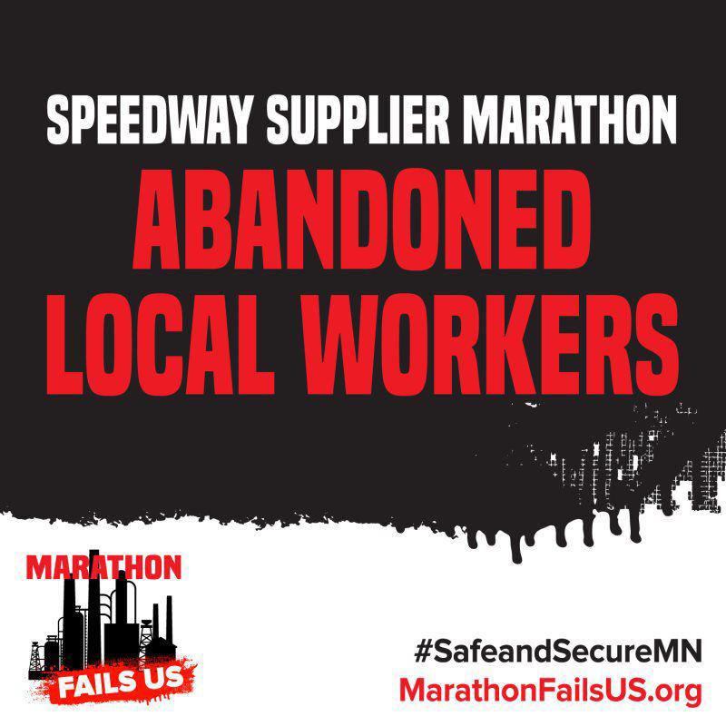 Speedway Supplier Marathon Abandoned Local Workers